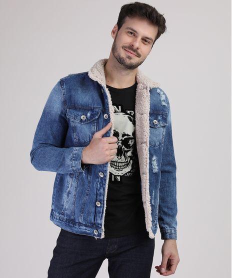 Jaqueta-Jeans-Masculina-com-Rasgos-e-Pelo-Azul-Medio-9554721-Azul_Medio_1