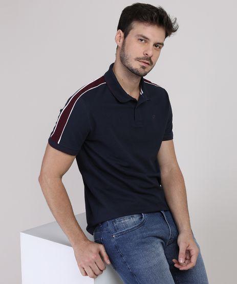 Polo-de-Piquet-Masculina-com-Faixa-Lateral-Manga-Curta-Azul-Marinho-9915544-Azul_Marinho_1