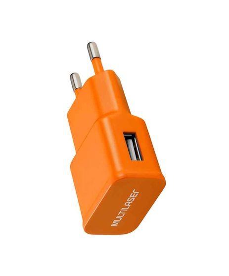 Carregador-de-Parede-Smartogo-Bivolt-com-Entrada-USB-Multilaser---CB080L-Laranja-9942677-Laranja_1