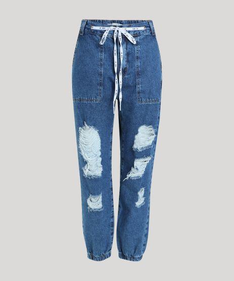 Calca-Jeans-Feminina-Jogger-Cintura-Super-Alta-Destroyed-com-Cadarco--Hi-Bye--Azul-Escuro-9944873-Azul_Escuro_1