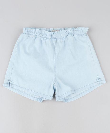 Short-Jeans-Infantil-com-Laco-e-Elastico-Azul-Claro-9944344-Azul_Claro_1