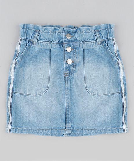 Saia-Jeans-Infantil-Frozen-Com-Faixa-Lateral-com-Glitter-Azul-Claro-9944343-Azul_Claro_1