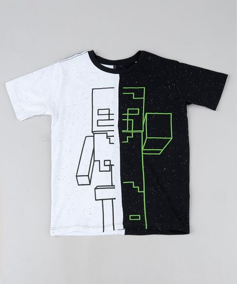 Camiseta-Infantil-Minecraft-Manga-Curta-Gola-Careca-Preta-9944638-Preto_1