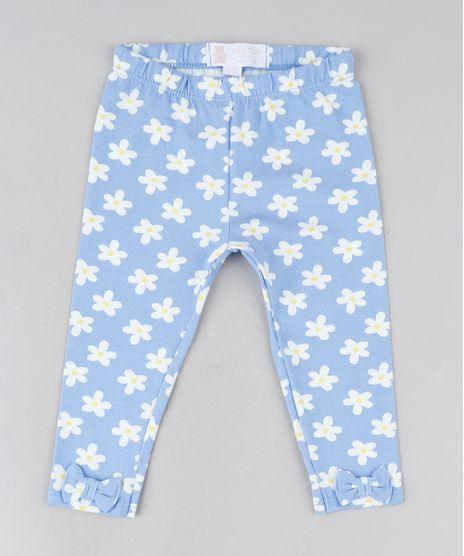 Calca-Legging-Infantil-Floral--com-Laco-na-Barra-Azul-Claro-9942213-Azul_Claro_1