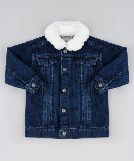 Jaqueta-Jeans-Infantil-com-Gola-de-Pelo-Azul-Escuro-9946409-Azul_Escuro_1