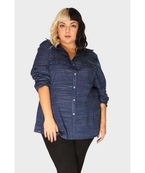 97c270cc20 Camisa Azul Marinho Plus Size - cea