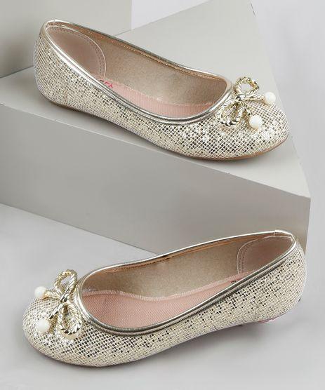 Sapatilha-Infantil-Molekinha-com-Glitter-e-Lacinho-Dourada-9949085-Dourado_1