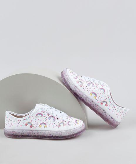 Tenis-Infantil-Molekinha-Arco-Iris-com-Glitter-Branco-9948752-Branco_1