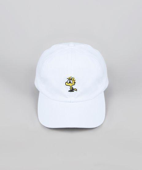 Bone-Masculino-Snoopy-Aba-Curva-Branco-9946718-Branco_1