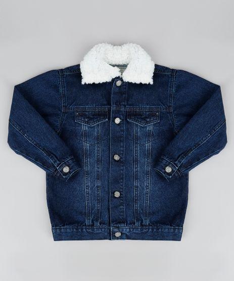 Jaqueta-Jeans-Infantil-com-Gola-de-Pelo-Azul-Escuro-9946410-Azul_Escuro_1