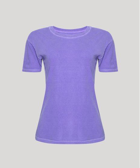 T-Shirt-Feminina-Mindset-Manga-Curta-Decote-Redondo-Roxa-9950386-Roxo_1