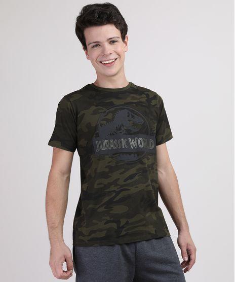 Camiseta-Juvenil-Jurassic-World-Estampada-Camuflada-Manga-Curta-Verde-Militar-9668678-Verde_Militar_1