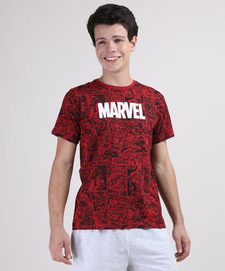 Camiseta-Juvenil-Marvel-Estampada-Quadrinhos-Manga-Curta-Vermelha-9675698-Vermelho_1