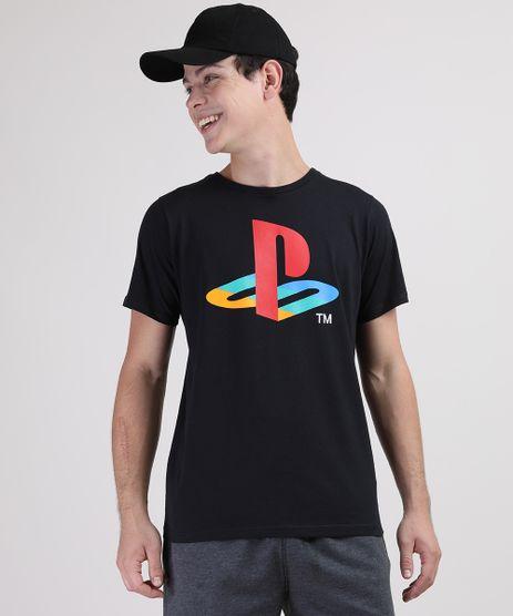 Camiseta-Juvenil-PlayStation-Manga-Curta-Preta-9873465-Preto_1