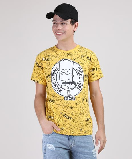 Camiseta-Juvenil-Bart-Simpsons-Estampada-Manga-Curta--Amarela-9541652-Amarelo_1