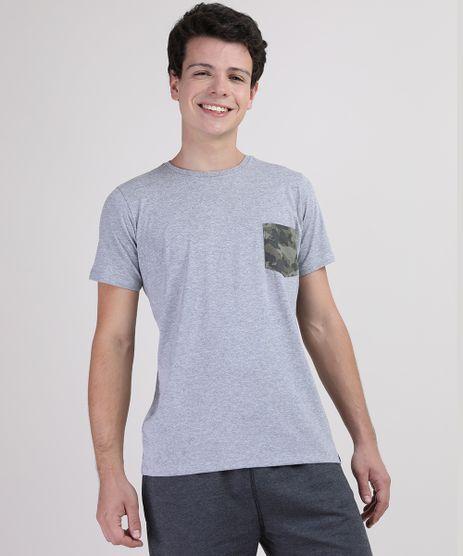 Camiseta-Juvenil-com-Bolso-Estampado-Camuflado-Manga-Curta-Cinza-Mescla-9944015-Cinza_Mescla_1