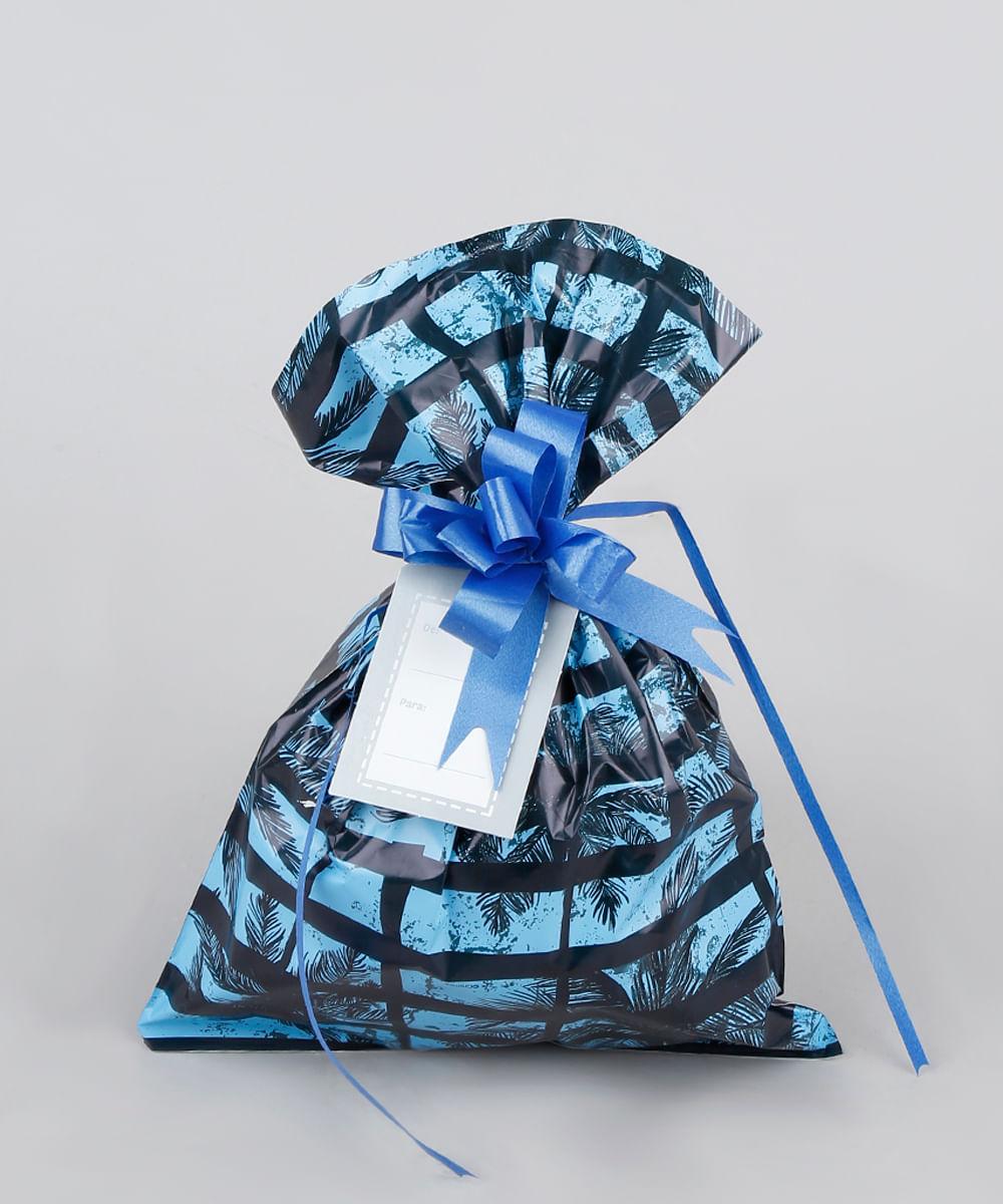Kit de Embalagem para Presente Coqueiros 60X90CM Azul
