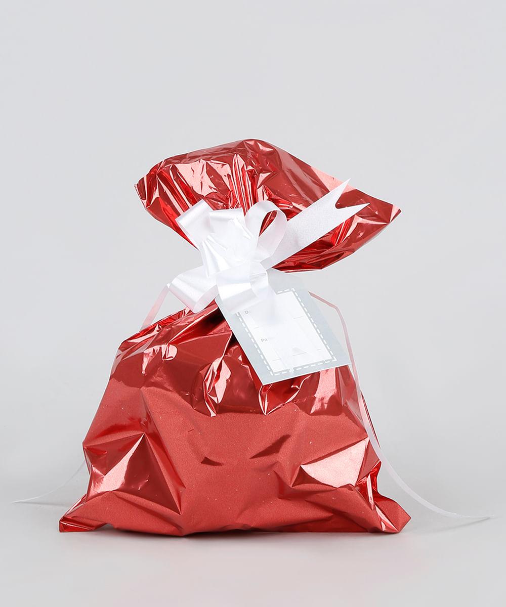 Kit de Embalagem para Presente Lisa 60X90CM Vermelho