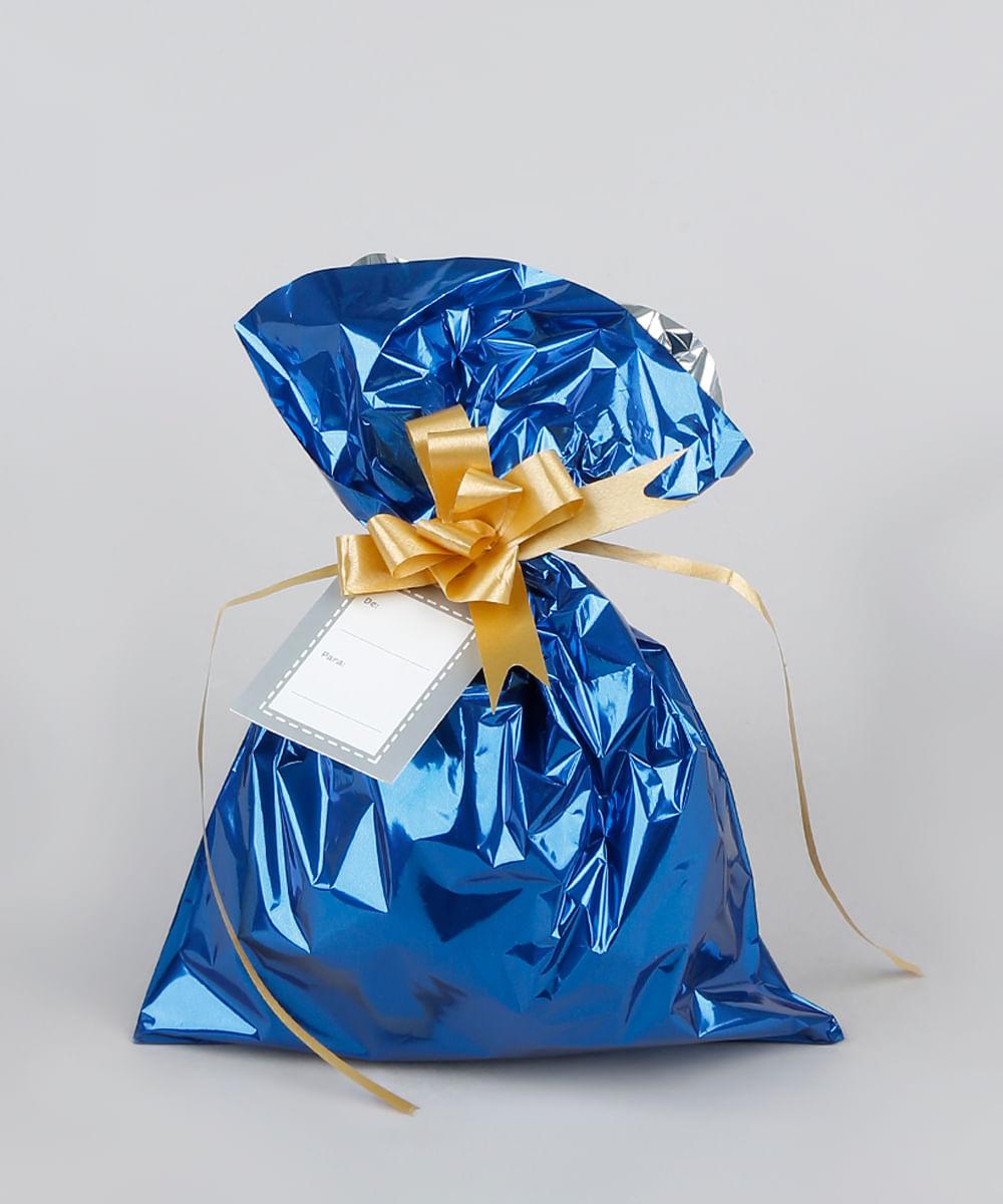 Kit de Embalagem para Presente Lisa 60X90CM Azul