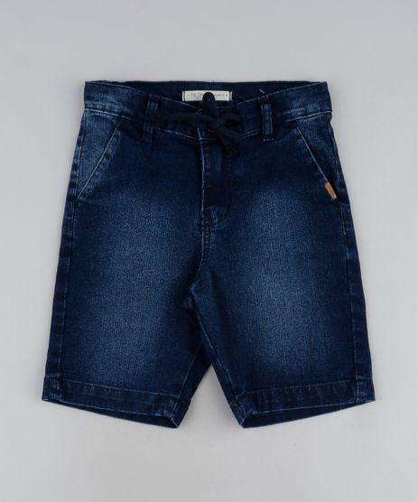 Bermuda-Jeans-Infantil-Slim-com-Bolsos-Azul-Escuro-9944384-Azul_Escuro_1