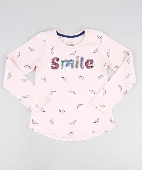 Blusa-Infantil-Smile-em-Paete-e-Arco-Iris-Manga-Longa-Rosa-Claro-9947199-Rosa_Claro_1