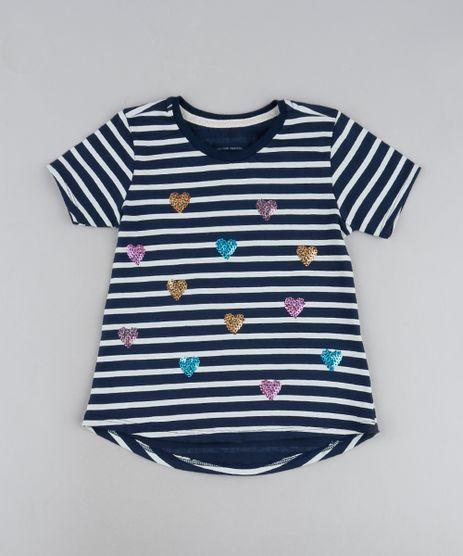 Blusa-Infantil-Listrada-com-Coracoes-de-Paete-Manga-Curta-Azul-Marinho-9946323-Azul_Marinho_1