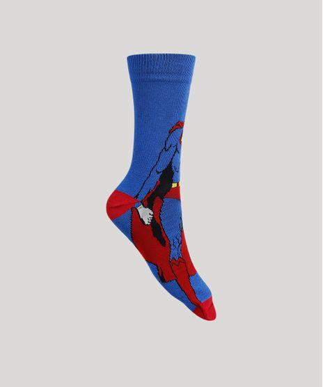 Meia-Masculina-Cano-Alto-Super-Homem-Azul-Royal-9949289-Azul_Royal_1