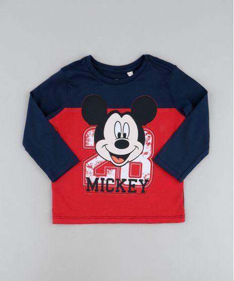 Camiseta-Infantil-Mickey-com-Recortes-Manga-Longa-Vermelha-9942409-Vermelho_1