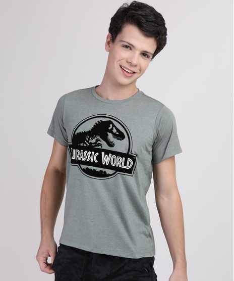 Camiseta-Juvenil-Jurassic-World-Manga-Curta-Verde-Militar-9876753-Verde_Militar_1