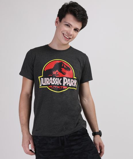 Camiseta-Juvenil-Jurassic-Park-Manga-Curta-Cinza-Mescla-Escuro-9710562-Cinza_Mescla_Escuro_1