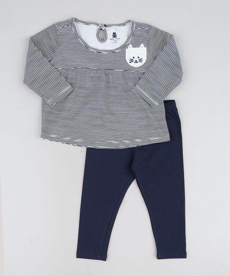Conjunto-Infantil-Blusa-Listrada-Gatinho-Manga-Longa---Calca-Legging-Preto-9919752-Preto_1