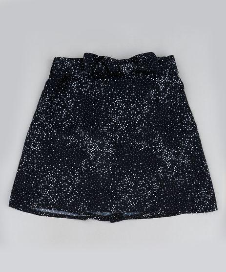 Short-Saia-Infantil-Estampado-de-Poa-com-Laco-na-Cintura-Preto-9950190-Preto_1