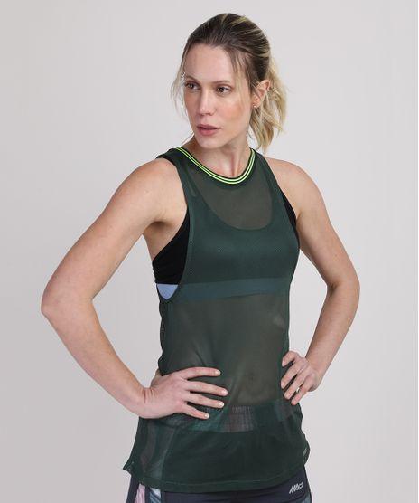 Regata-de-Tela-Feminina-Esportiva-Ace-Cavada-Decote-Redondo-Verde-Escuro-9921703-Verde_Escuro_1