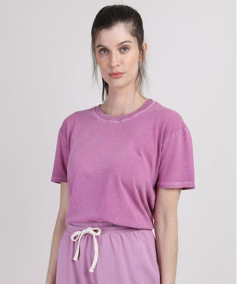 T-Shirt-Feminina-Mindset-Manga-Curta-Decote-Redondo-Lilas-9951154-Lilas_1