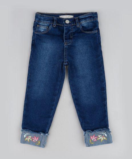 Calca-Jeans-Infantil-Reta-com-Barra-Dobrada-e-Bordado-Azul-Escuro-9944073-Azul_Escuro_1