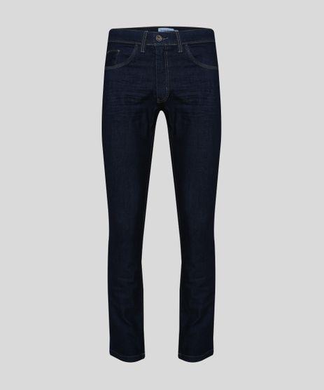 Calca-Jeans-Masculina-Reta-com-Bolsos-Azul-Escuro-9945438-Azul_Escuro_1