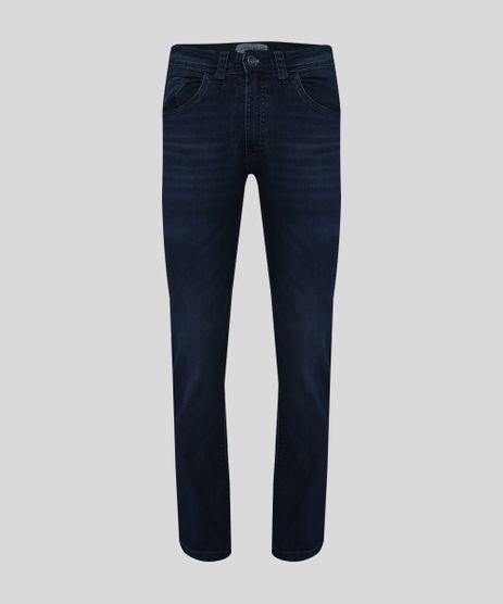 Calca-Jeans-Masculina-Reta-com-Bolsos-Azul-Escuro-9945440-Azul_Escuro_1