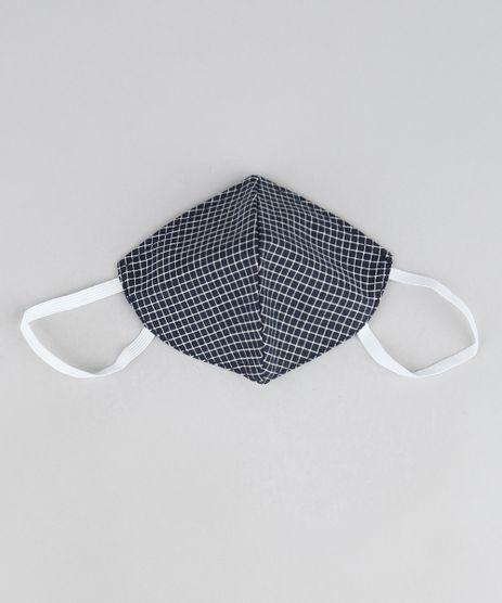 Mascara-de-Tecido-Reutilizavel-para-Protecao-Individual-Quadriculada-Azul-Marinho-9951994-Azul_Marinho_1