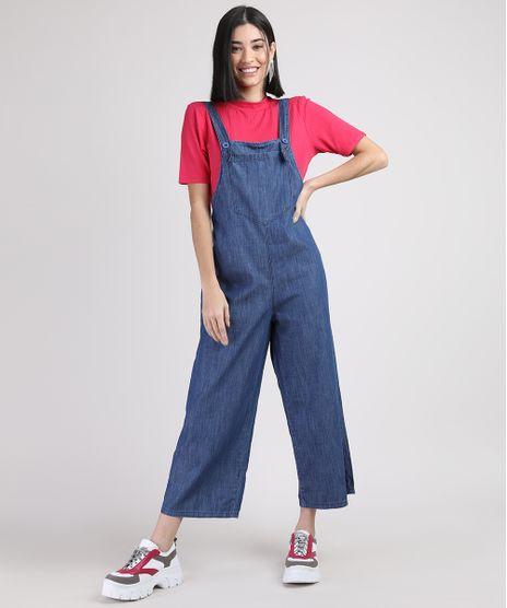 Macacao-Jeans-Feminino-Pantacourt-com-Bolso-Azul-Medio-9950915-Azul_Medio_1