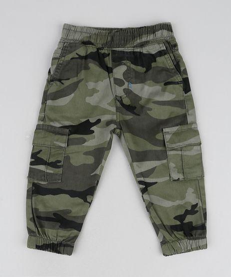 Calca-Infantil-Jogger-Estampada-Camuflada-Com-Bolsos-Verde-Militar-9946860-Verde_Militar_1
