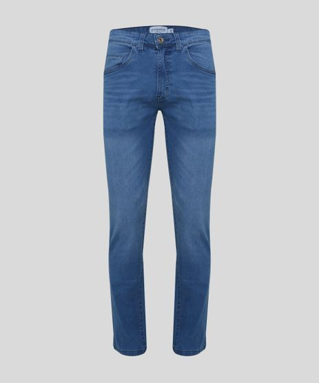 Calca-Jeans-Masculina-Reta-com-Bolsos-Azul-Medio-9945439-Azul_Medio_1