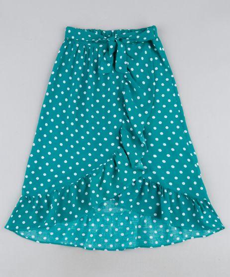 Saia-Infantil-Longa-Estampada-de-Poa-com-Babados-Verde-9950185-Verde_1