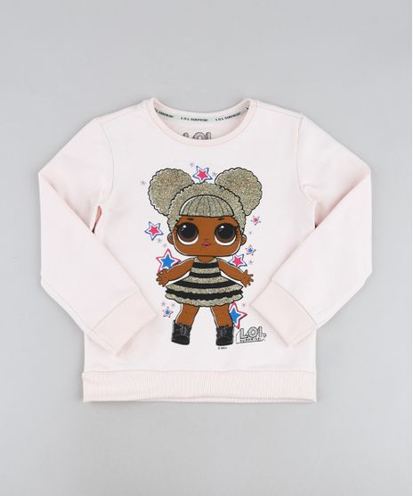 Blusao-Infantil-LOL-Surprise-Queen-B-com-Brilho-Decote-Redondo-Rosa-Claro-9944998-Rosa_Claro_1