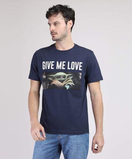 Camiseta-Masculina--Baby-Yoda--Manga-Curta-Gola-Careca-Azul-Marinho-9946945-Azul_Marinho_1