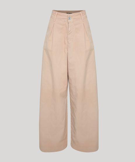 Calca-de-Sarja-Feminina-Mindset-Pantalona-Cintura-Super-Alta-com-Pregas-Bege-9950458-Bege_1