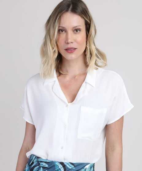 Camisa-Feminina-com-Bolso-Manga-Curta-Off-White-9942028-Off_White_1
