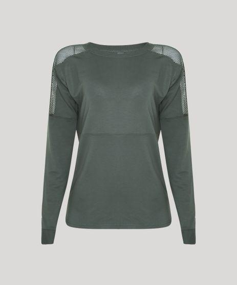 Blusao-de-Moletom-Feminino-com-Recorte-em-Tela-Verde-Militar-9794343-Verde_Militar_1