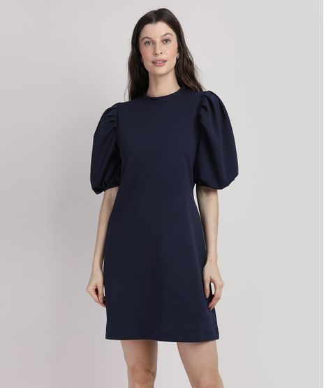 Vestido-Feminino-Mindset-Curto-Manga-Bufante-Azul-Escuro-9948975-Azul_Escuro_1