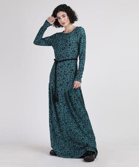 Vestido-Feminino-Longo-Estampado-Animal-Print-Onca-com-Cinto-Corda-Manga-Longa-Verde-9947113-Verde_1