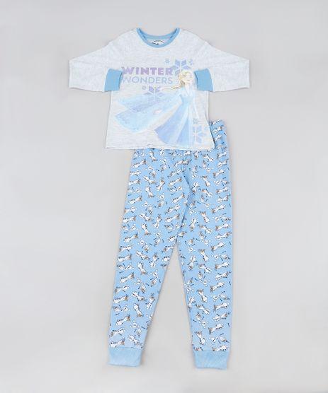 Pijama-Infantil-Frozen-Manga-Longa-Cinza-Mescla-Claro-9942762-Cinza_Mescla_Claro_1